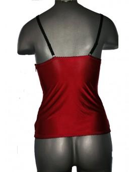 Corset Crystal, culoare rosu + negru, Jolidon, K1071